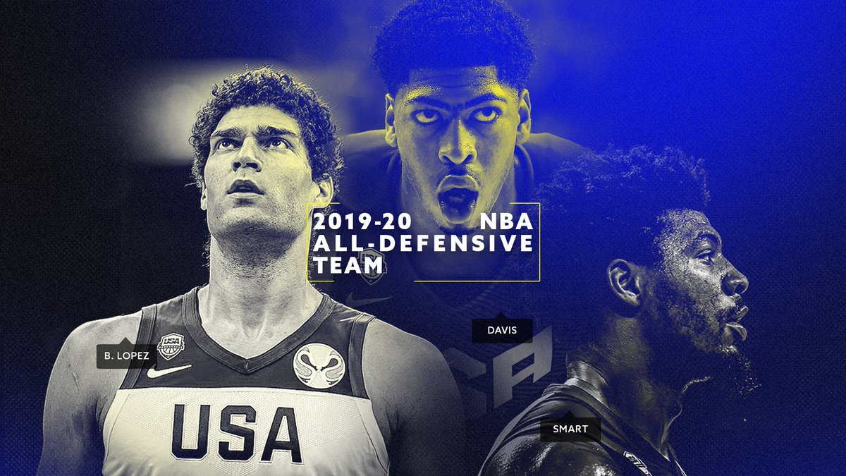 Salute to Brook, Marcus & AD on being named to the 2019-20 @NBA All-Defensive Teams!