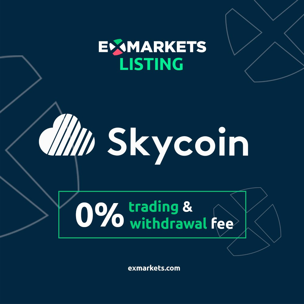 Many thanks to the whole @ex_markets team! We in #Skyfleet are looking forward to getting our Fiber platform integrated into the ExMarkets exchange. I'm sure our traders are also anxious to go wild with those 0% trading fees! Looks like it goes well with Skycoin's 0% tx fees!