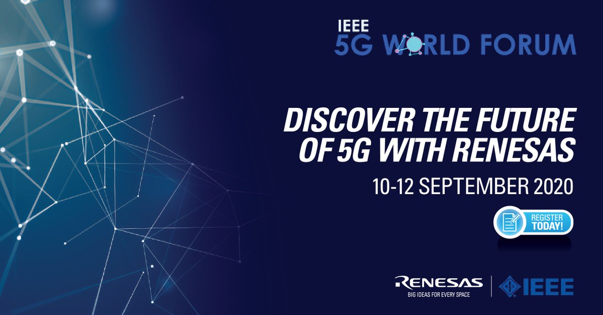 "Attend a live session (10 Sep) on ""TV 6: Wireless Infrastructure RF Front Ends for #5G and beyond"" by #Renesas expert, and visit our #VirtualBooth from 10 Sep to 10 Oct to learn more - https://t.co/ab38LoQx9P https://t.co/bv63w2zOzd"