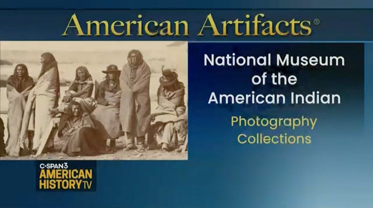 Interested in the #history of #photography and the complicated relationship between photography and Native peoples? @cspanhistory talks w/ Michelle Delaney, asst director for History and Culture, about the museum's photo #archives online. https://t.co/27TDMNo3fZ #museumsunlocked https://t.co/KRDDUri7n0