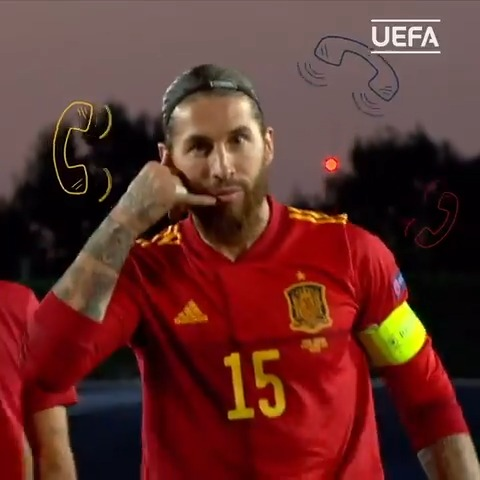 📞 Sergio Ramos 😘  ⚽️ Scored in nine of his last 15 matches for Spain 🎯 Scored his last 8 penalties for Spain 🇪🇸 8th in the all-time goalscorers list for Spain  #NationsLeague https://t.co/LLBdyt9M2s