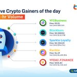 Image for the Tweet beginning: 💪Top Five #Crypto Gainers of