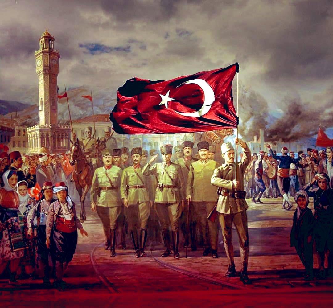 9 Eylül İzmir'in düşman işgalinden kurtuluşu kutlu olsun! Başta Gazi Mustafa Kemal Atatürk olmak üzere tüm kahramanlarımızı saygı, minnet ve rahmetle anıyoruz.🇹🇷 #9Eylül #izmir https://t.co/8Nl3S4Euap