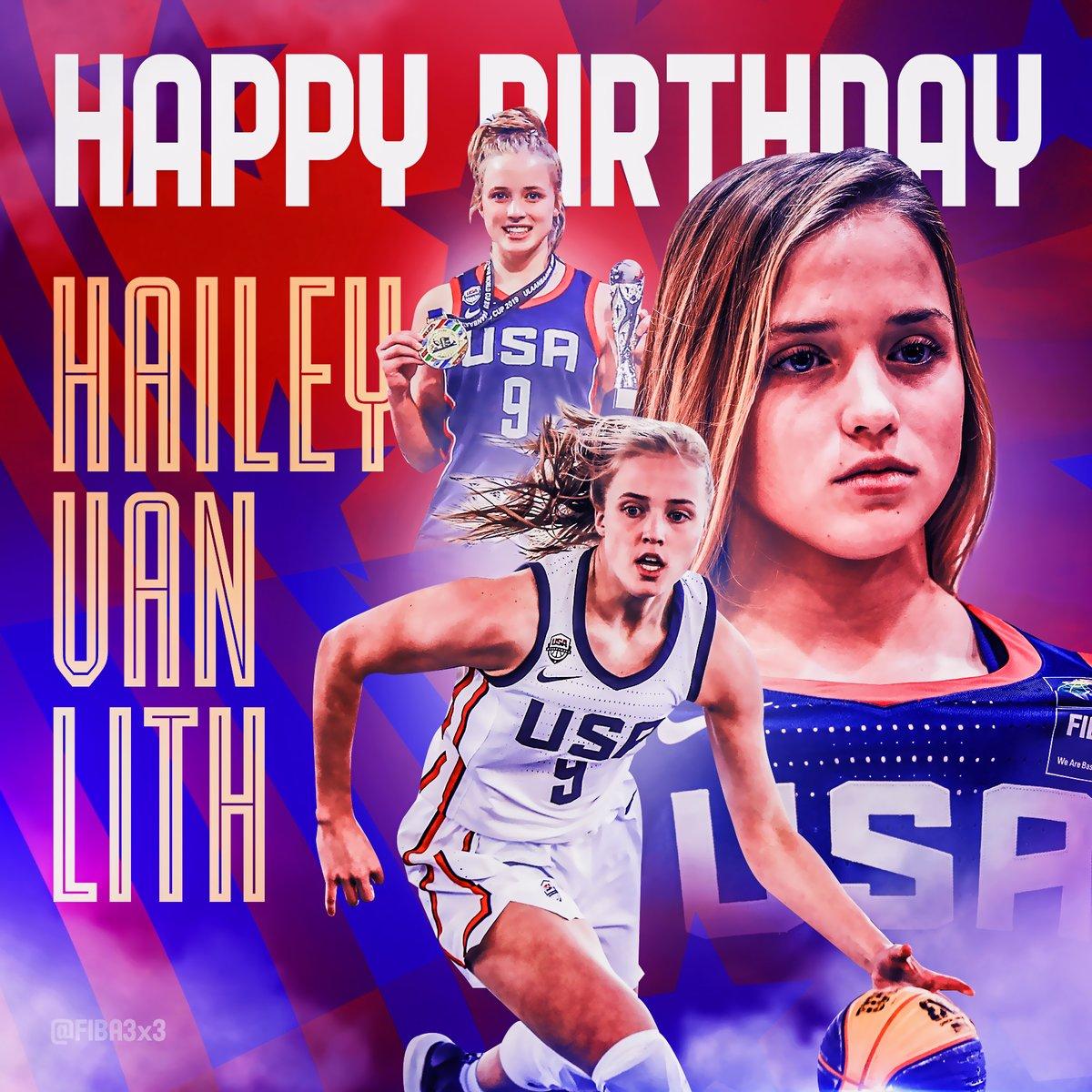 🎉🇺🇸 Happy birthday to our FIBA #3x3U18 World Cup 2019 MVP Hailey van Lith 🎉🇺🇸 @haileyvll | @USAB3x3