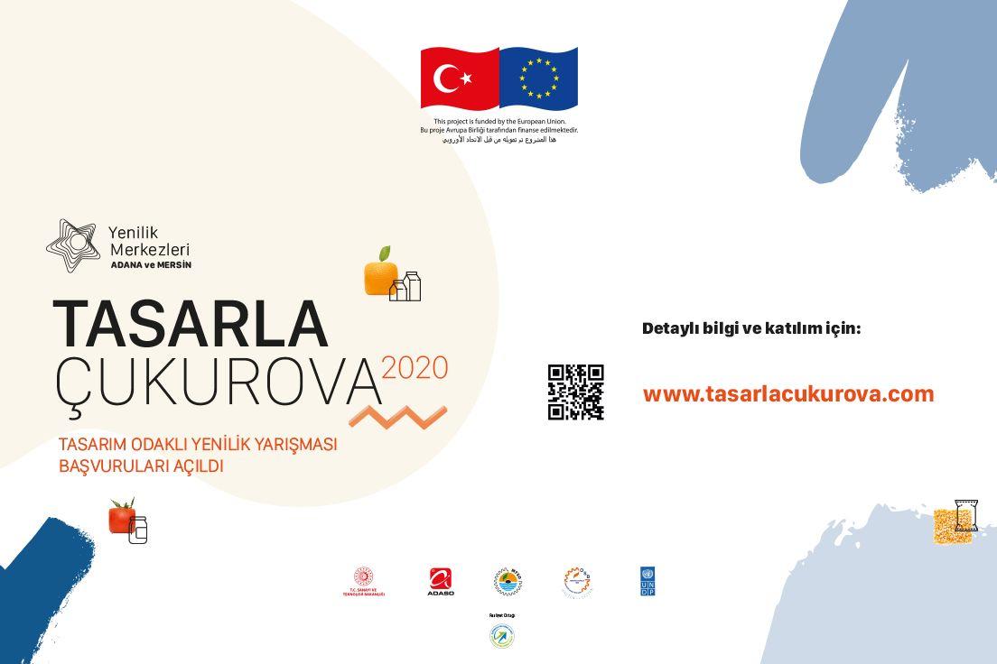 """Tasarım Odaklı Yenilik Yarışması """"Tasarla Çukurova"""" tüm Türkiye'den katılımcıları bekliyor!  ⏰Son Gün: 28 Eylül 2020  Detaylı bilgi ve başvuru için 👉https://t.co/pUWeZQuzIT  @TCSanayi  @undpturkiye https://t.co/1nFc9fVLL7"""