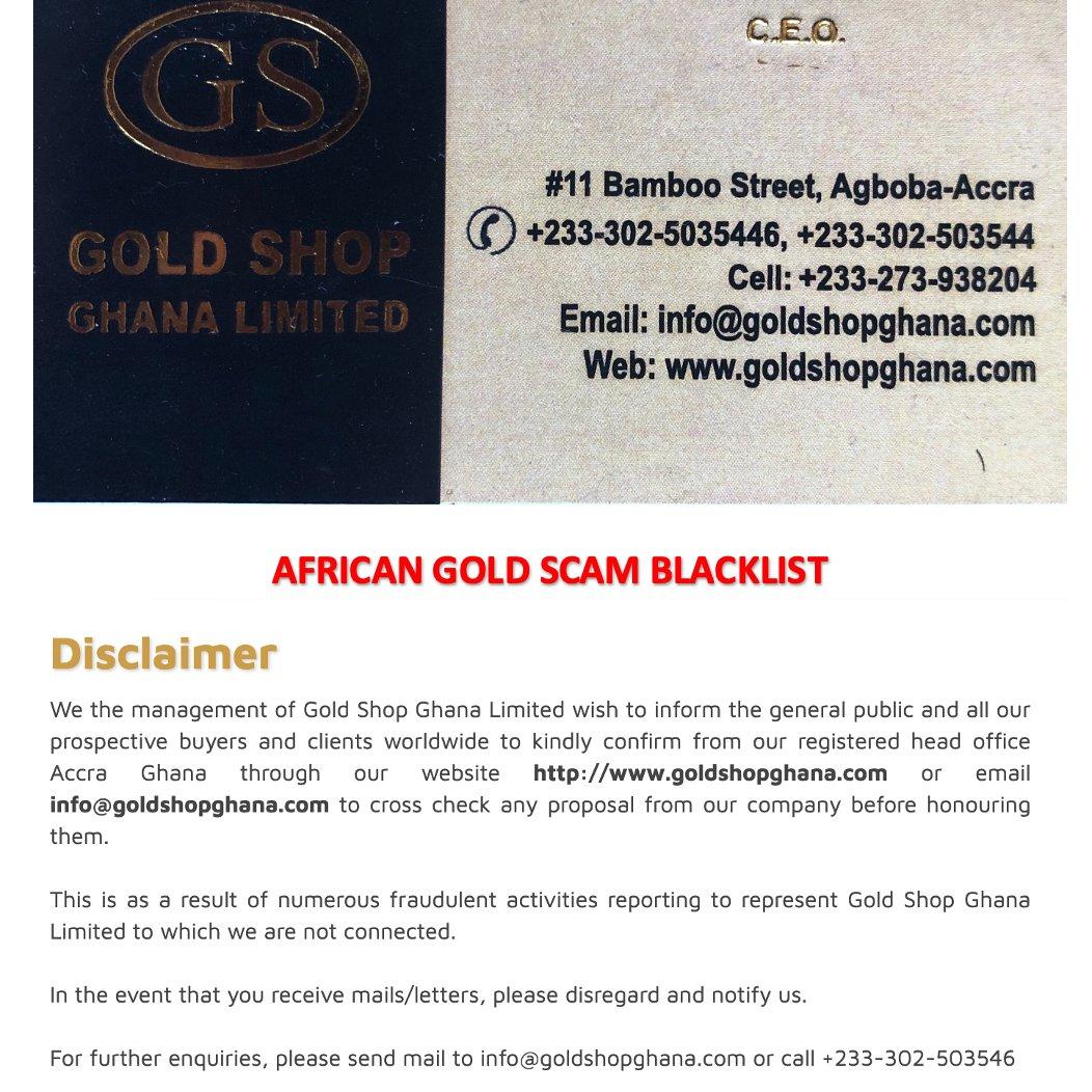 List ghana scammer Financial Scams