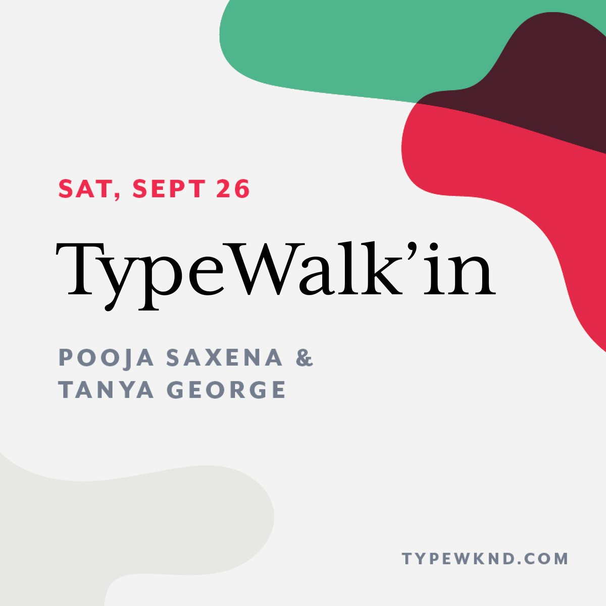 Pooja Saxena On Twitter Type Walks Are Much More Than Sign Spotting For Me And Tanyatypes At Typewknd We Ll Talk About The Stories We Like To Tell Through Type And Lettering How