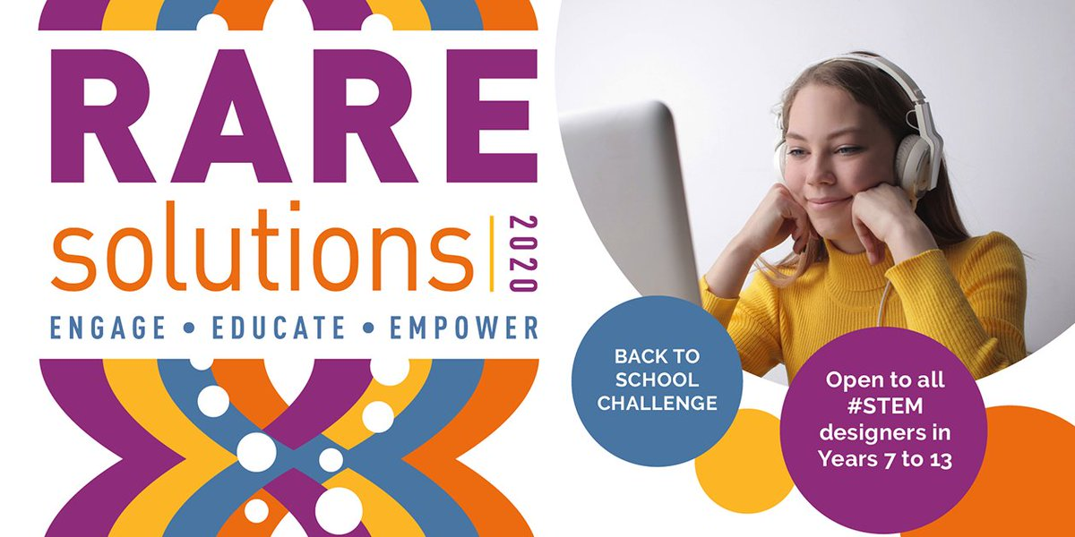 Join our great #BackToSchool challenge! #RAREsolutions20 poster competition is open to all #STEM designers in Years 7-13. Pick an accessibility challenge from our #raredisease community & design a piece of equipment to help improve their lives. Enter here! https://t.co/fkK6nsBS45 https://t.co/IJROTbErPu