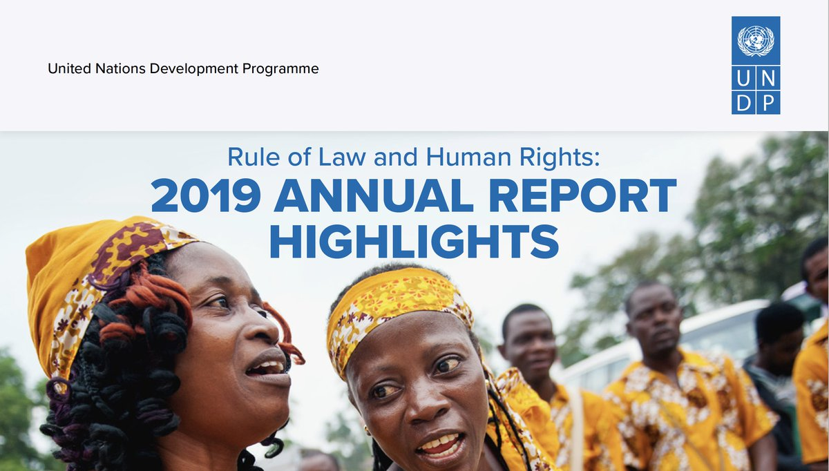 UNDP's Global Programme on Strengthening the Rule of Law and Human Rights for Sustaining Peace and Fostering Development – 2019 Annual Report is now available online.  View the Global Programme's new homepage and to read the report 👉 https://t.co/HQcIWgZWUt  #ROL4Peace https://t.co/gK62Aq0j32