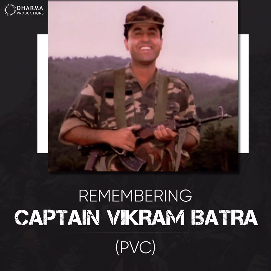 Remembering captain Vikram Batra (PVC) code named #shershaah on his birth anniversary.
