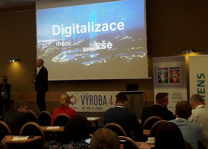 V rámci konference Digitální výroba 2020 dnes vystupuje František Podzimek ze společnosti @SiemensCzech s příspěvkem o výzvách Digitální transformace průmyslového podniku #digitalnipodnik #digitalizace #prumysl40 https://t.co/eUYsGuZa1q