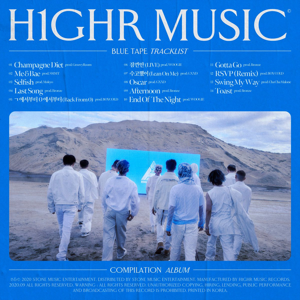 D-7 TRACKLIST 🔥🔥 2020.09.16 [H1GHR : BLUE TAPE] ⠀ THE FRESH 14 TRACKS ⠀ #BLUE_TAPE #ComingUp #컴필레이션 #Compilation #H1GHRMUSIC #하이어뮤직 https://t.co/80J6IoCLRt