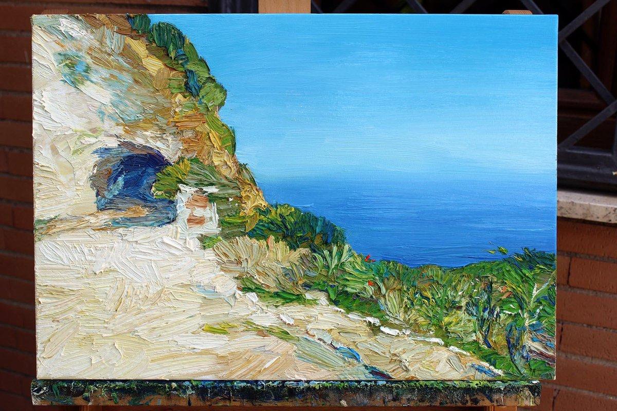 "Oil painting on canvas, ""Sicily"" 50x35 cm, 2017. #art #oilpainting #painting #paintings #artlovers #artontwitter #artonline #texturedpainting #impastopainting #impressionism #contemporaryart #seascapes #coastline #arte #dipinti #dipintiadolio https://t.co/9fQqV4zMwb"