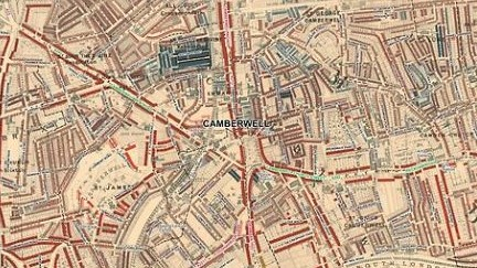 The second of our #NotesandQueries comes from Gary. Whilst looking through Booth's Maps of London, he noticed Hollington Street in Camberwell @se5, where his father was born. The Street though is no longer there ! Can anyone help him find out more about the street? https://t.co/zQ1IwPeNdH
