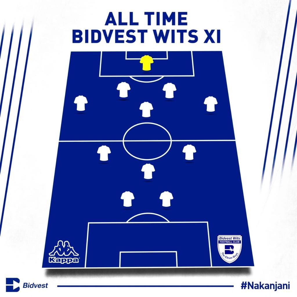 As we look back at 9️⃣9️⃣ remarkable years, we'd like you to share with us your all-time Bidvest Wits XI.   #Nakanjani ⚪️🔵 https://t.co/XLDYovNyfN