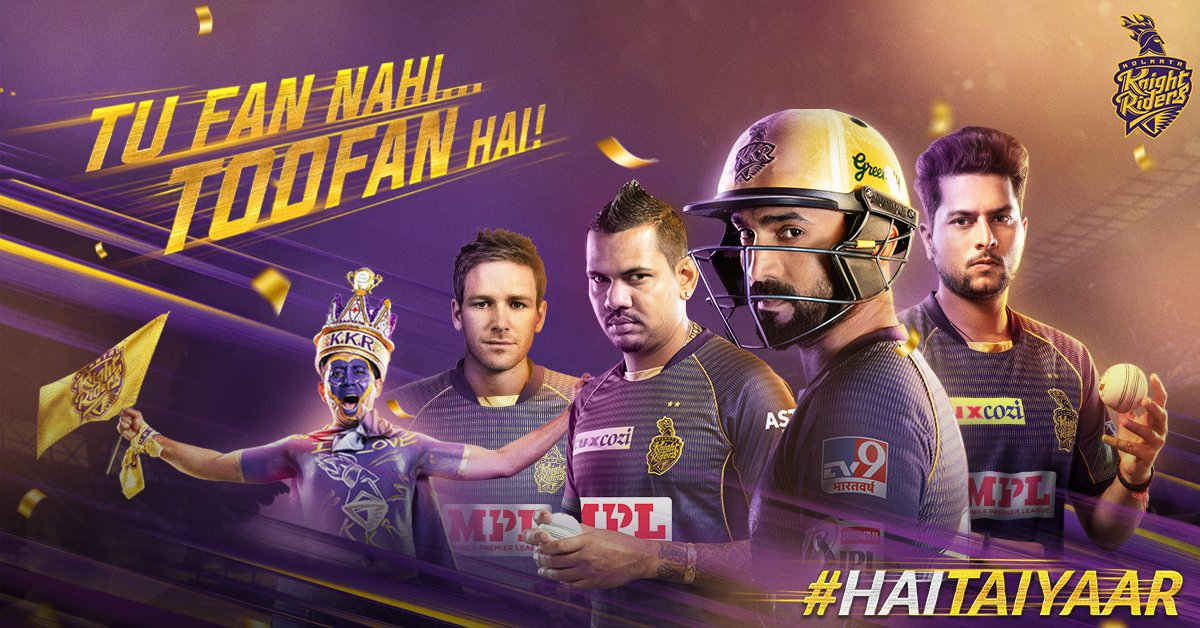 This year, the Knight Riders have only one chant and one salute, and it's all about you.  Tu jaan le tu kaun hai, #TuFanNahiToofanHai  #KKR #HaiTaiyaar #Dream11IPL https://t.co/9cfFAVrY4P
