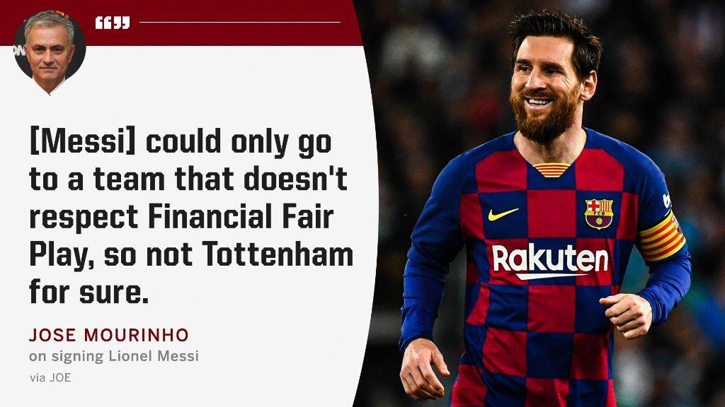 Mourinho on Messi 👀