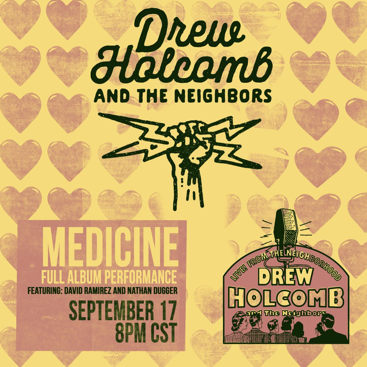 Hi folks! While we're bummed we won't be together this year, here's some much needed good news. Drew will be presenting a series of live streams this fall and we want you to join us. Make sure you're signed up for the e-list, and we may have special treat for you this afternoon!