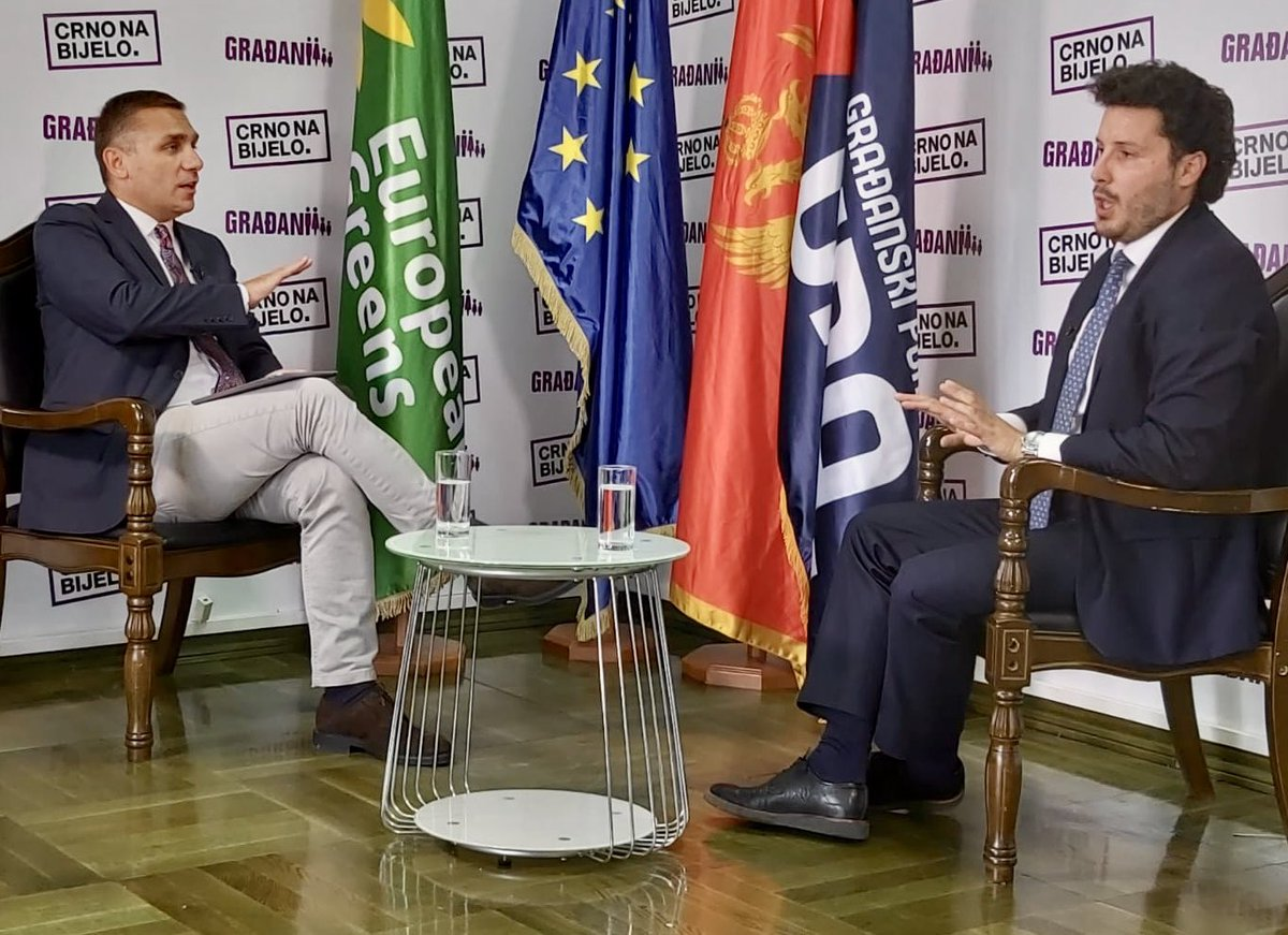 On the day of the #Montenegro opposition Agreement for the new Govenment a hard talk interview in Podgorica with @DritanAbazovic - the Albanian throwing Milo Djukanović from power after 30 years. https://t.co/SF1gRZCpgF