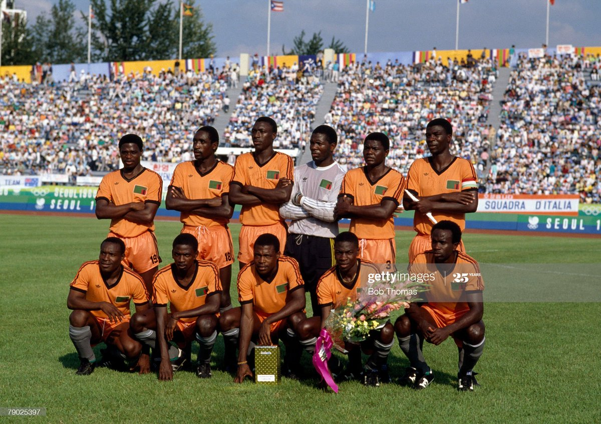 The Zambia team at the 1988 Olympics in South Korea on 19th September 1988 https://t.co/k0POXKGlhG