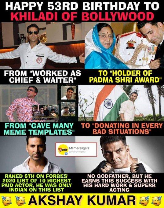 Happy birthday real hero Akshay Kumar