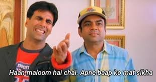 Everyone : Happy Birthday Akshay kumar / king of comedy blah blah blah   Le Akshay :