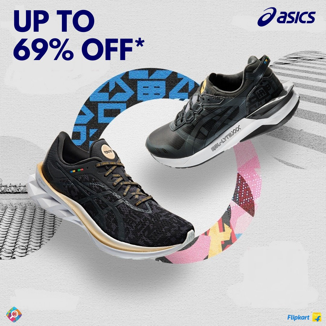 asics shoes in flipkart