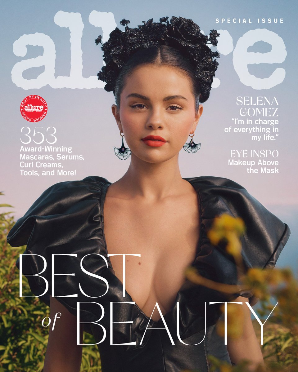 Our October #AllureBestofBeauty cover star is @SelenaGomez ✨ From being one of the first Latinx actors to anchor a Disney Channel show, to a pop star with 3 chart-topping albums, and now, as the founder of @RareBeauty, read all about her stellar journey: https://t.co/eGlpsvYUNj https://t.co/I5mVdUsdKf