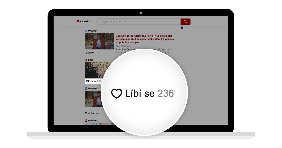 Na domovské stránce jsme spustili dvě nové funkce. Jde o tlačítko »Líbí se« ve tvaru srdce vyjadřující čtenářův zájem o konkrétní článek a nový modul pro uživatelské diskuze, který od července funguje na https://t.co/qpKCInhdf2 a během podzimu se rozšíří na ostatní obsahové weby. https://t.co/G80IqZWvsi