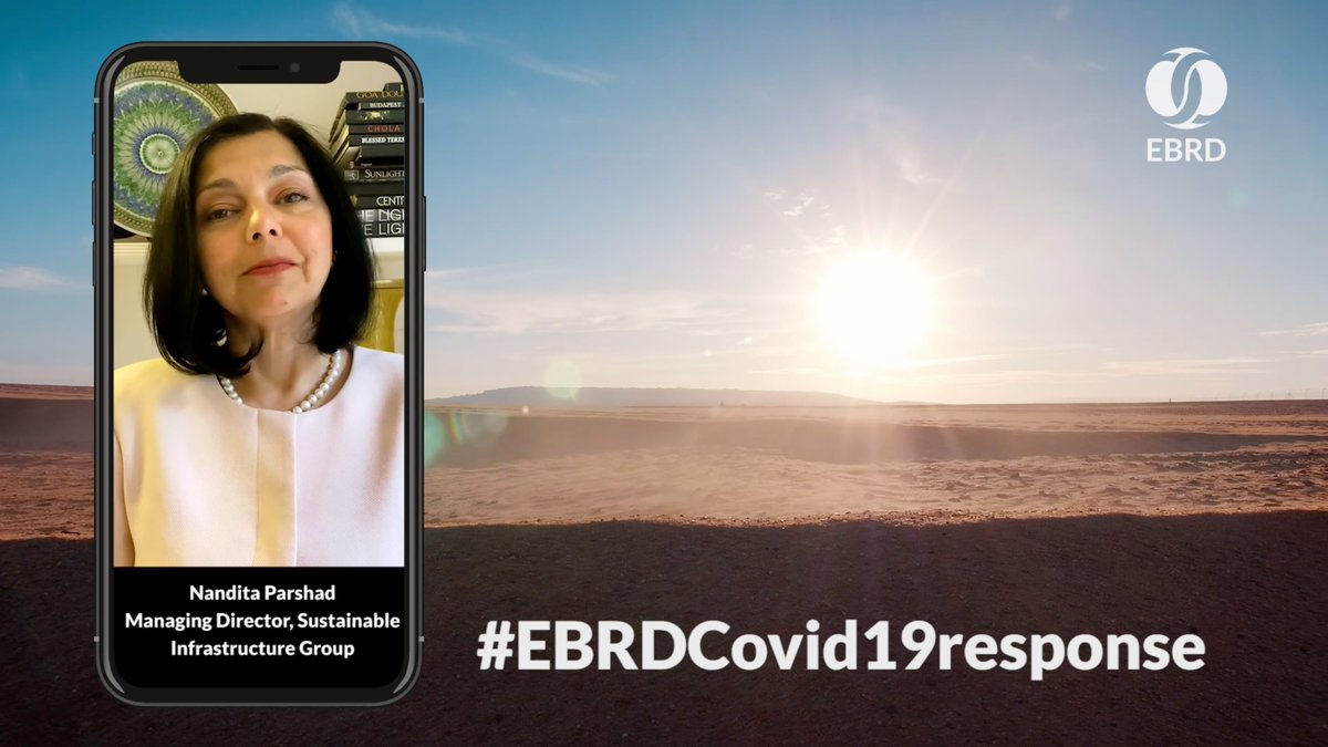 """Image for the Tweet beginning: #EBRDCovid19response  """"We have an opportunity"""