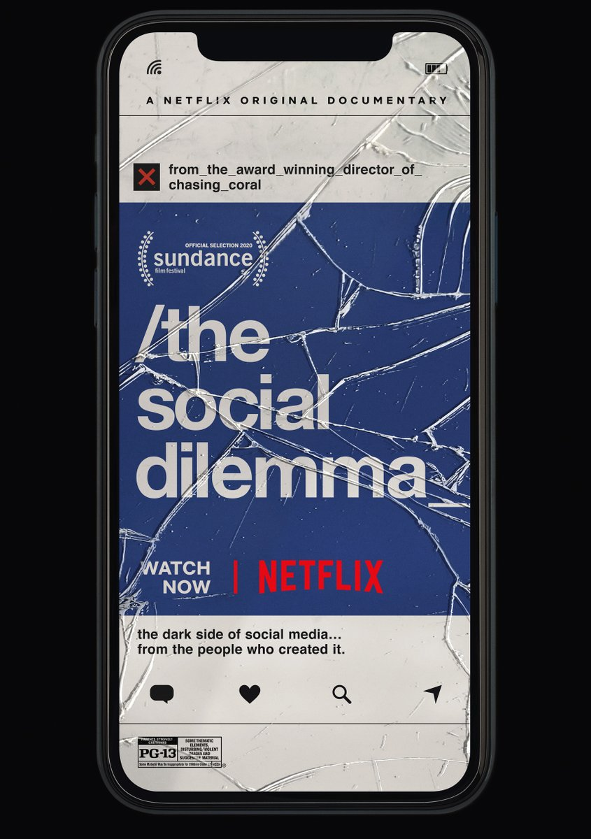 The Social Dilemma is now streaming on Netflix! #TheSocialDilemma https://t.co/GzzdDyJzGB