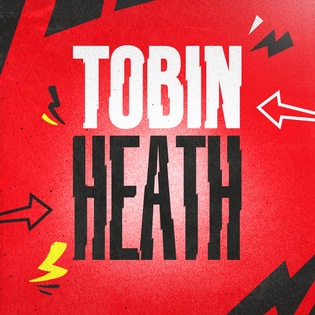 🦅 The eagle has landed.  We are 𝙩𝙝𝙧𝙞𝙡𝙡𝙚𝙙 to welcome @USSoccer star @TobinHeath to the club 🤩  #MUWomen