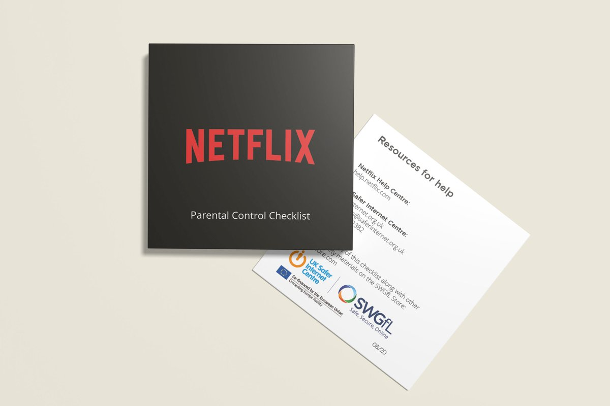 Our partners @SWGfL_Official have launched the brand new #Netflix parental control checklist! Download for #free today or order from the SWGfL store bit.ly/3bE6sat