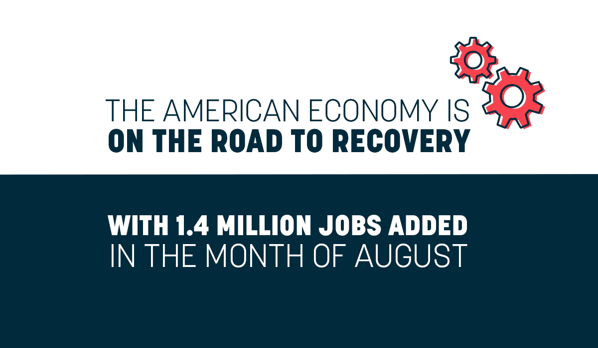 Under @POTUS and the @WhiteHouse America is witnessing the fastest labor market recovery from any economic crisis in history. America is on the road economic recovery 🇺🇸
