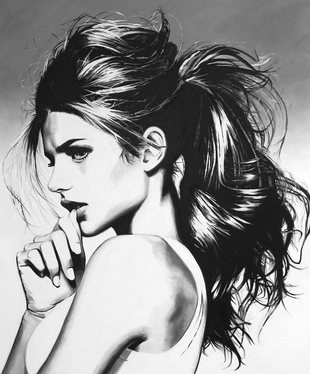 Beautiful Bizarre Magazine On Twitter Stunning Greyscale Portrait By Cindypressart Can I Get My Botox On Amazon 60 X 48 Oil On Canvas Beautifulbizarre Artmagazine Newcontemporaryart Painting Greyscale Art