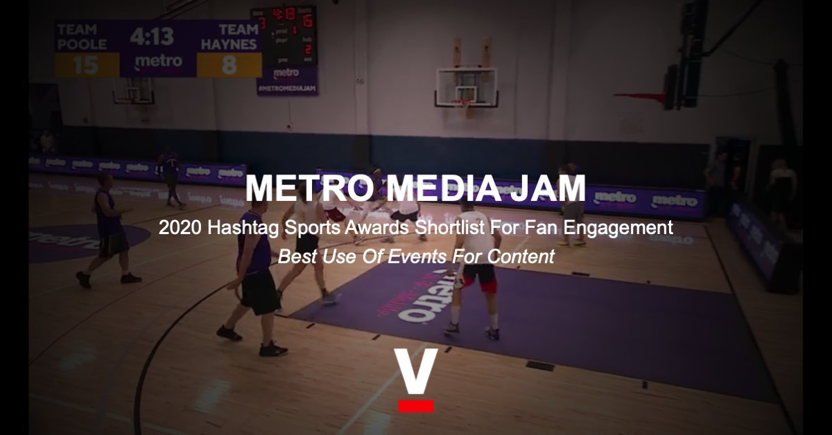 "🇺🇸 SPORTFIVE's ""Metro Media Jam"" activation for Metro by T-Mobile is shortlisted for ""Best Use of Events for Content"" by #HSAwards.  During the NBA Finals, Metro by T-Mobile hosted and streamed a basketball tournament for NBA reporters that earned 26M impressions and 110K views. https://t.co/AwolpBRwaQ"
