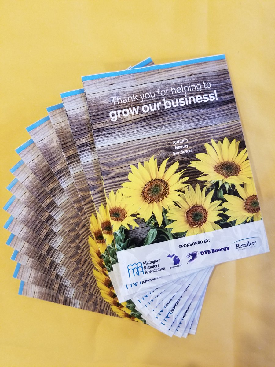 MRA members that order a free @BuyNearbyMI packet will receive 25 sunflower seed packets to give to their best customers during #BuyNearbyWeekend2020. 🌻 https://t.co/kYA0qUeGaT
