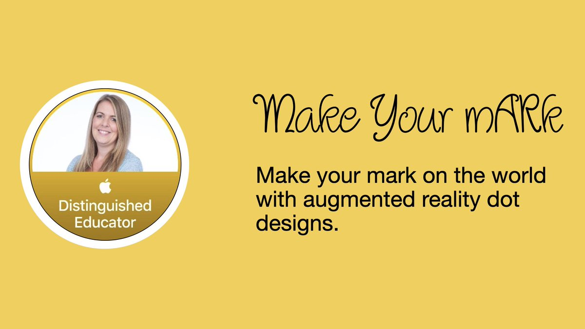 Make your mark on the real world with augmented reality and 3D dots! Try out @kmi_edu's activity here: https://t.co/VVCGBXbHSH   #InternationalDotDay #AppleEDUchat #EdTech https://t.co/1kCCfCqyMe