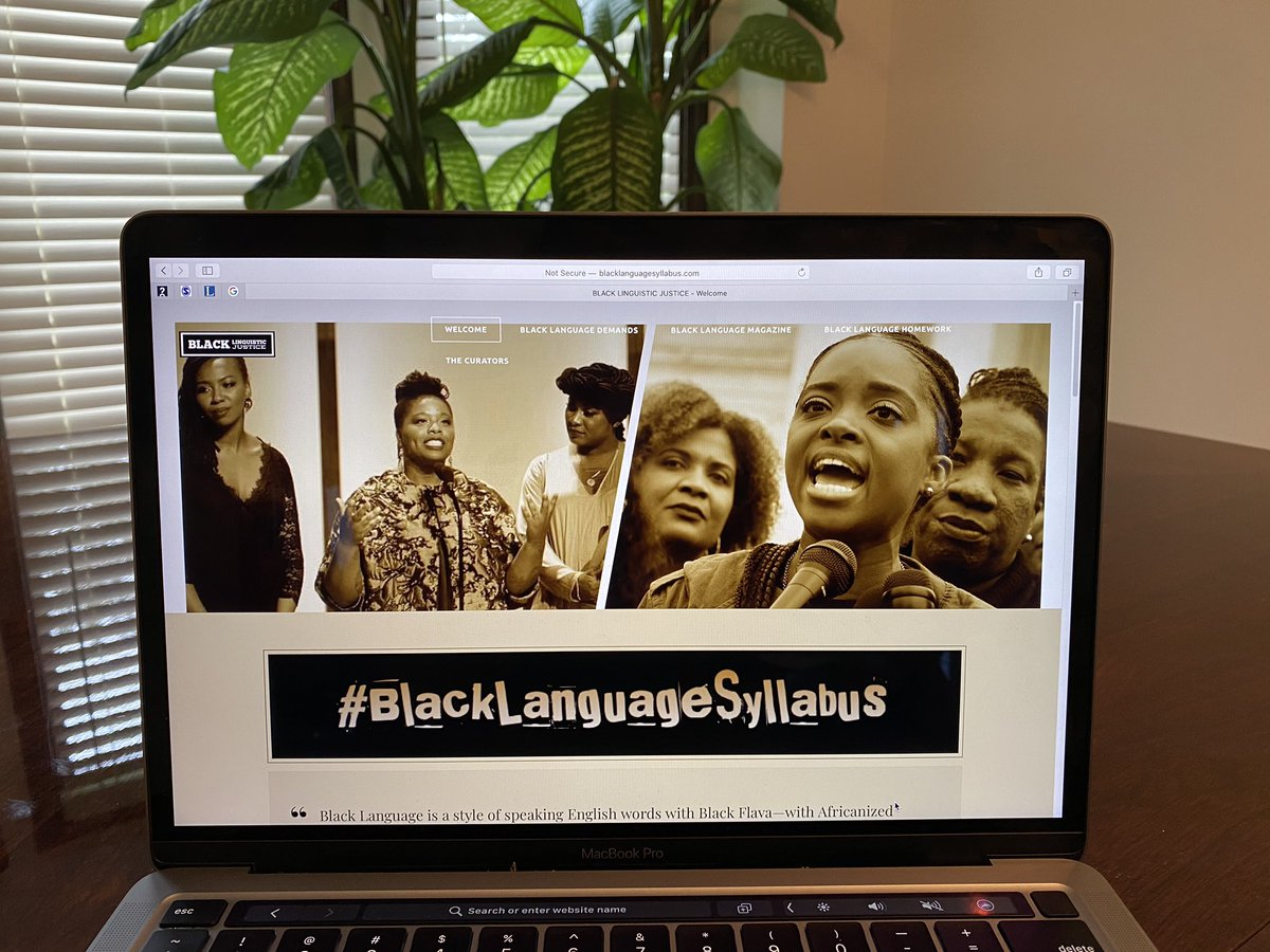 On the second day of the #ScholarStrike, we are excited to release the #BlackLanguageSyllabus. The BL Syllabus was created by Dr. April Baker-Bell and Dr. Carmen Kynard--two sista-friend-teachers who are here to lift one another up and push toward new Black ways of love and life. https://t.co/QULCuA5OsW