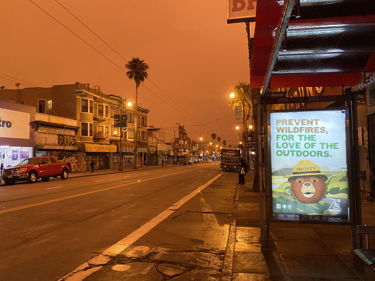 "#OrangeSky really puts the ""wild"" in wildfire.  📷: @yomilly  #CaliforniaFires #CameronPeakFire #BayArea #SanFrancisco #BayAreaFires #AugustComplexfire #OakFire #Bearfire  🔥🌲🔥🌲---> https://t.co/UDecO8CxYc https://t.co/YfPI62QHva"