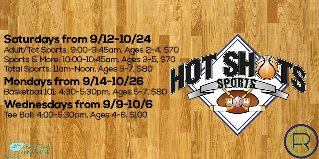 Hot Shots Sports programming at #PDoFP starts this week! They've got some great activities planned to allow your child to have fun while learning the fundamentals that will help develop their physical abilities. Learn more at https://t.co/6OhN0oZ337 #ForestParkIL #HotShotsSports https://t.co/T1ndYLK5T7