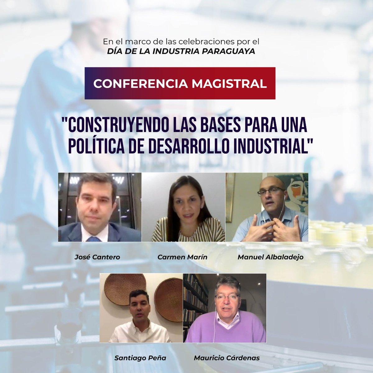 """Gracias a todos por participar y ser parte de la #ConferenciaMagistral """"Construyendo las bases para una política de desarrollo industrial"""" 🙌⚙️  Fue una ocasión muy oportuna para sentar las bases del diseño de una política industrial que el Paraguay tanto necesita 📣🇵🇾 https://t.co/PpLdQClWk1"""