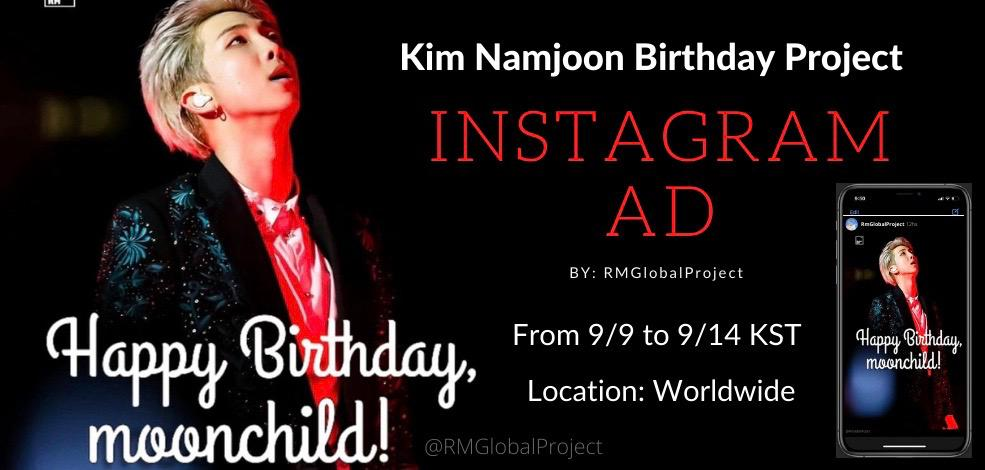 𝓚𝓲𝓶 𝓝𝓪𝓶𝓳𝓸𝓸𝓷 𝓑𝓲𝓻𝓽𝓱𝓭𝓪𝔂 𝓟𝓻𝓸𝓳𝓮𝓬𝓽 We share another part of our project for #RMs birthday: an ad on Instagram. We hope you enjoy and share it. 💜 🔗instagram.com/p/CE7KL91J0Th/… #방탄소년단알엠 #남준 #Namjoon @BTS_twt