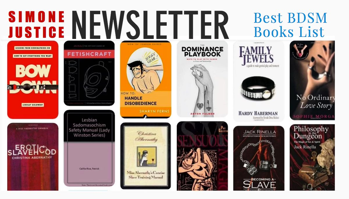 Learn the old-fashioned way read from my  Best BDSM Books List at https://t.co/P1yj81m8wL  Featuring: @Georgia_Payne01 @mollena @AddingtonD @PassionAndSoul @iankerner @JaiyaNWSE @MsLorelei @ValeRESearch @Madonna @bizarremagazine @timskintwo https://t.co/T7vP33z3zo