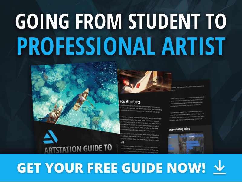 The ArtStation Guide to Going from Student to Professional Artist is now available. Best of all, it's free to download! https://t.co/b3BU7bacWO  #ArtStationHQ #ArtStationGuides #StudentArtist https://t.co/UvOhv6sBV8
