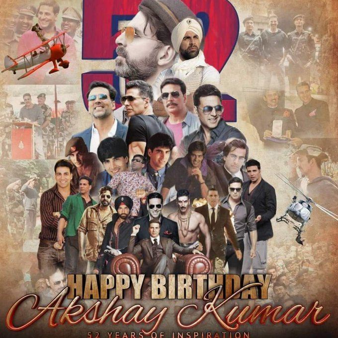 Happy birthday dear akshay kumar. You are my favourite hero for ever ever and forever.