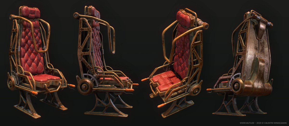 #Design Awesome of the Day: #IndieGameDev #Steampunk ⚙️ #Videogame 🕹️ Pilot Seat 💺 With #Unity3d By #3D Generalist & Webdesigner @muta_re #SamaDesign #SamaGames 🎮
