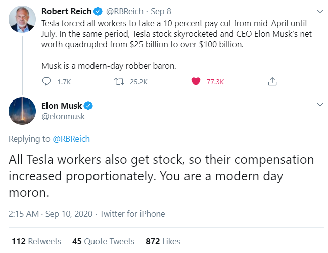 motorhead on twitter very classy guy that elonmusk i will laugh myself silly if reich ever becomes secretary of the epa or dept of transportation tslaq https t co cpzawd1da0 elonmusk i will laugh myself silly