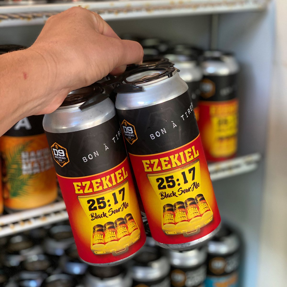 We've got limited quantities of Ezekiel 25:17 Black Sour Ale in the taproom. We absolutely love all sweetness of the candi sugar, date molasses, and honey malt and that puckering tart at the end. It's the perfect day for a black sour 🍻 Cheers #cltbeers https://t.co/tHTLQ6PoGg