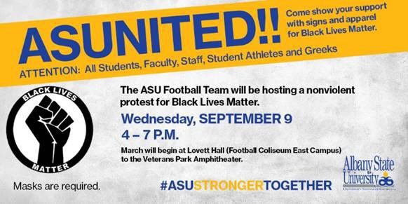 TODAY!  Join us as we march against social injustice!   #ASUStrongerTogether https://t.co/B0XvI2c7np
